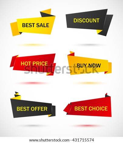 Vector Stickers Price Tag Banner Label Stock Vector 431715574