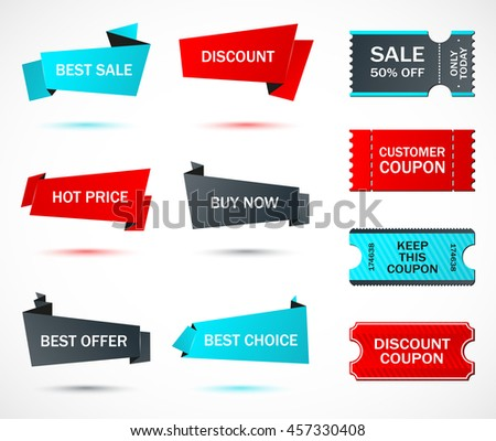 Vector Stickers Price Tag Banner Label Stock Vector 617322416