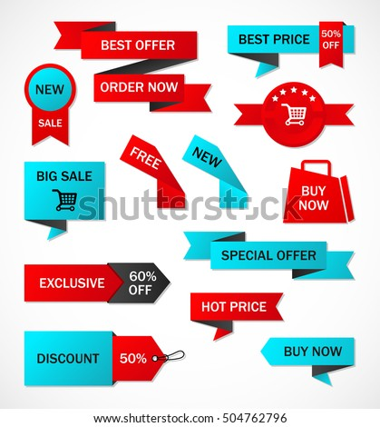 Vector Stickers Price Tag Banner Label Stock Vector 504762796