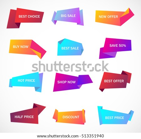 Vector Stickers Price Tag Banner Label Stock Vector 449434135