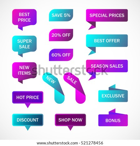 Vector Stickers Price Tag Banner Label Stock Vector 521278456