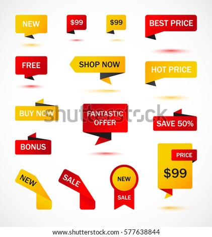 vector stickers price tag banner label stock vector 527259406 shutterstock. Black Bedroom Furniture Sets. Home Design Ideas