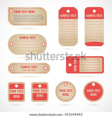 Vector stickers, price tag, banner, label. Set of coupons, vector template.