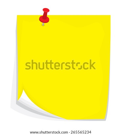 Vector sticky note - stock vector