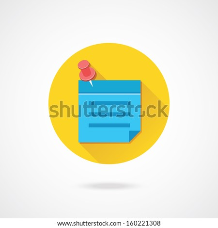Vector Sticky Note Icon - stock vector