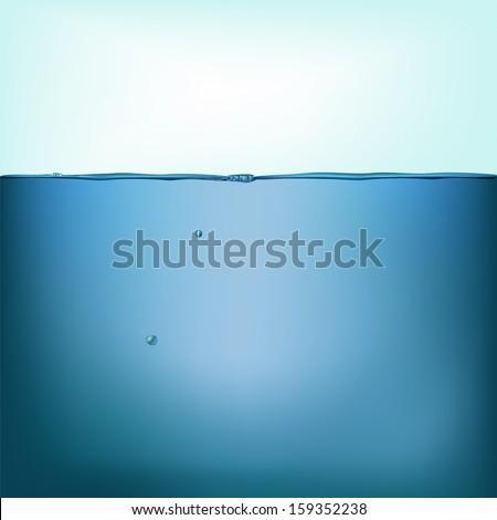 Vector still water background - stock vector
