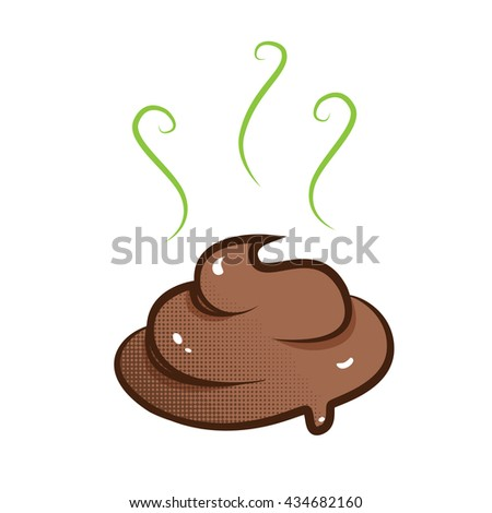 vector stinky poop illustration