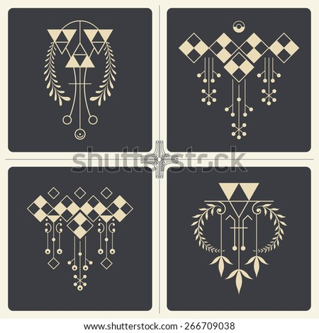 Vector stock illustration. Abstract ornaments for design of printed and web products. - stock vector