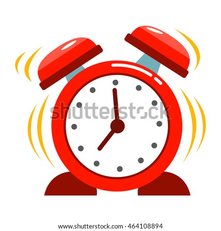 Vector stock of classic vintage alarm clock ringing