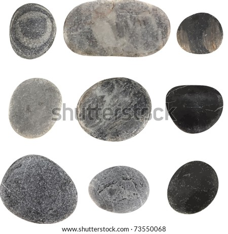 Vector stones isolated - stock vector