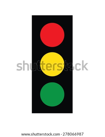 Vector stop light icon