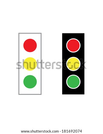 Vector Stop Light Set - stock vector