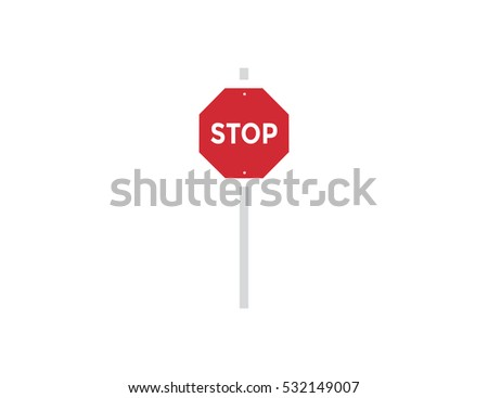 Vector stop road sign symbol