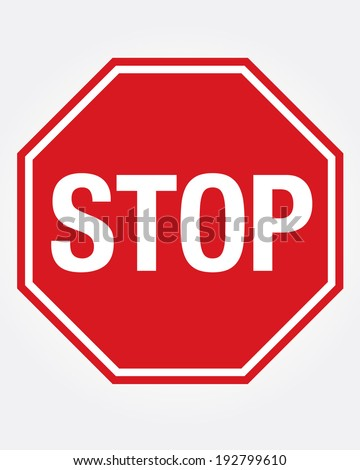 Vector Stop Sign Icon - stock vector