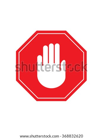 Vector Stop Sign with Hand
