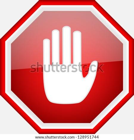 vector stop signal sign - stock vector