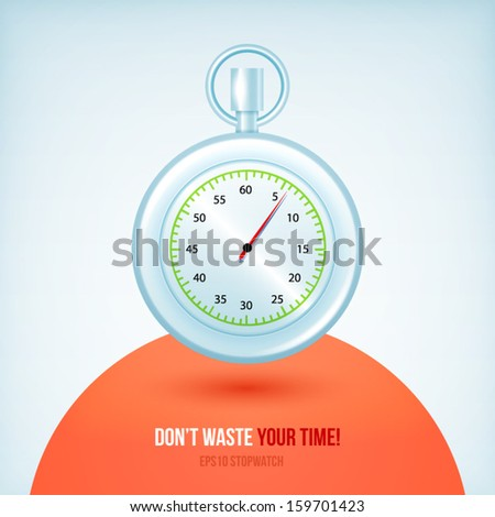 Vector Stopwatches. Designed Illustration
