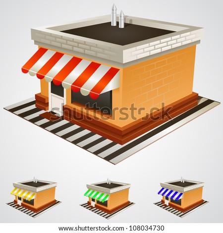 Vector store building - stock vector