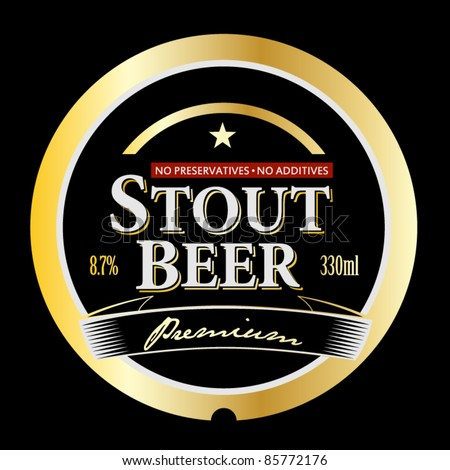 vector stout beer label