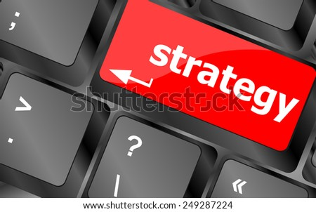 vector Strategy button on keyboard key button - stock vector