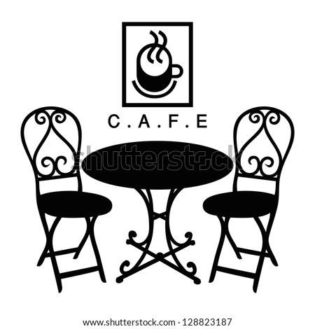 Cafe Table And Chairs Stock Images RoyaltyFree Images Vectors