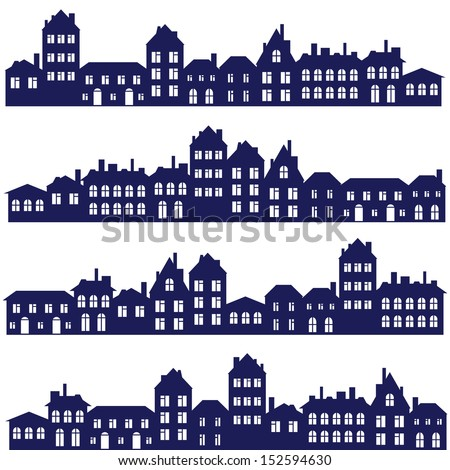 vector streets set - stock vector