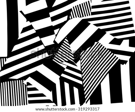 Vector striped pattern. Grunge black-white background.