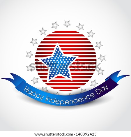 Vector stylish american independence background