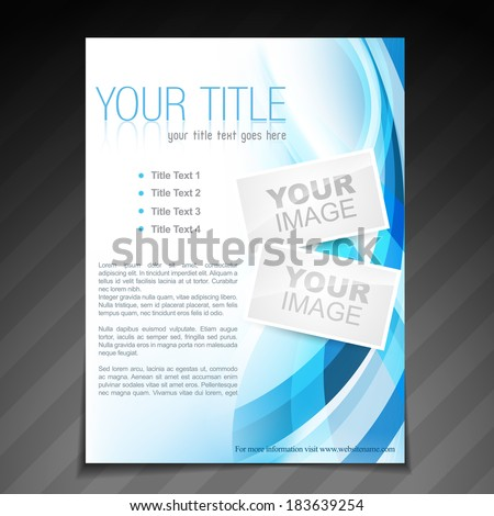 vector stylish brochure flyer poster template design - stock vector