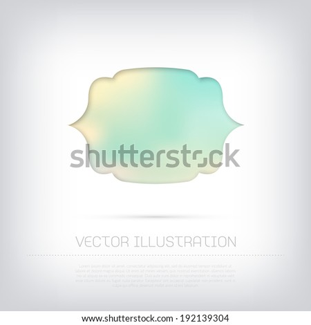 Vector stylish web banner / badge / frame with colorful blurred background