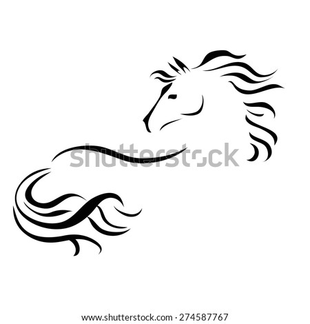 vector stylized figure of a horse