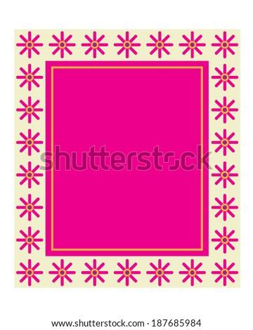 Vector Stylized Flower Frame  - stock vector