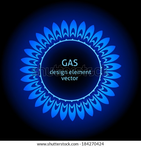 Vector stylized image of a gas flame - stock vector