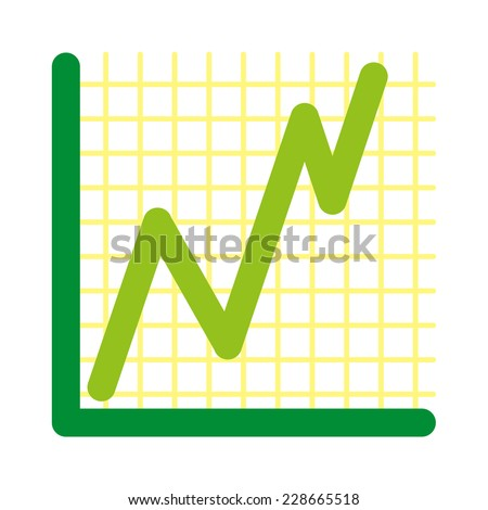 vector success graph simple background - stock vector