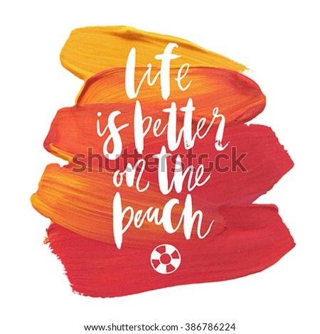 Vector summer background with holiday elements. Vector illustration. - stock vector