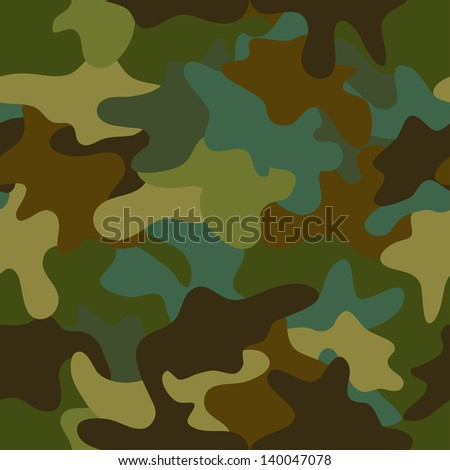 vector summer camouflage  seamless pattern - stock vector