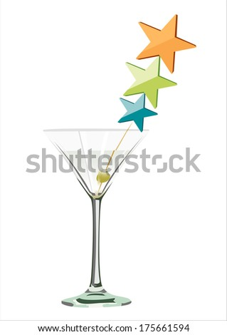 Vector summer cocktail