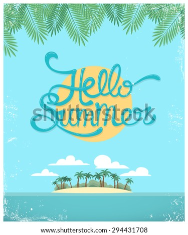 Vector summer greeting card - stock vector