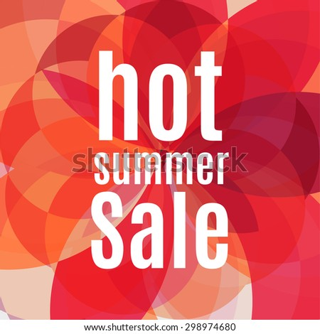 Vector summer sale design template with colorful background. - stock vector