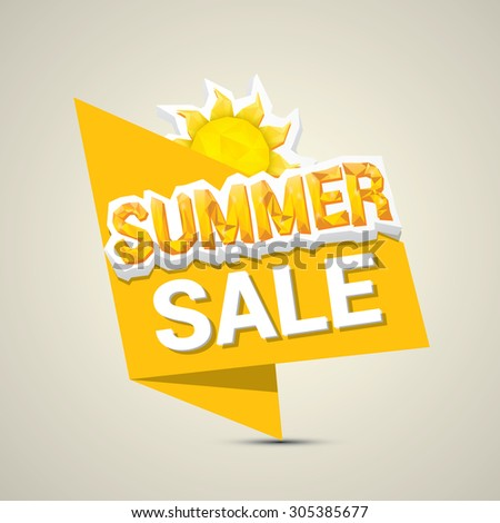 vector summer sale label or sticker
