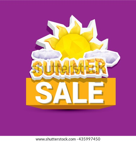 vector summer sale sticker or label for design