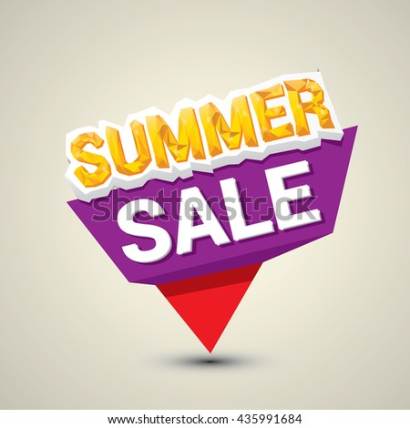 vector summer sale sticker . summer sale banner or label for design