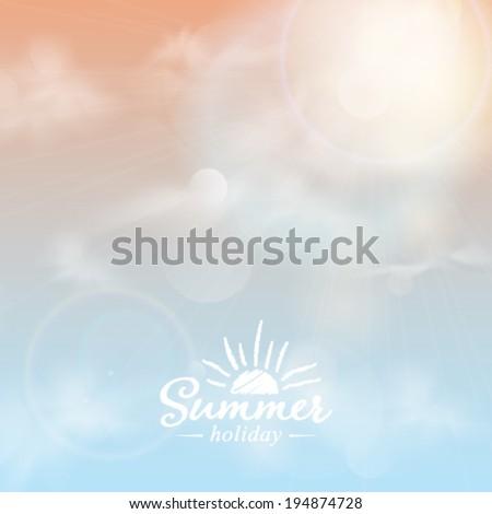 Vector summer sun light burst.  - stock vector