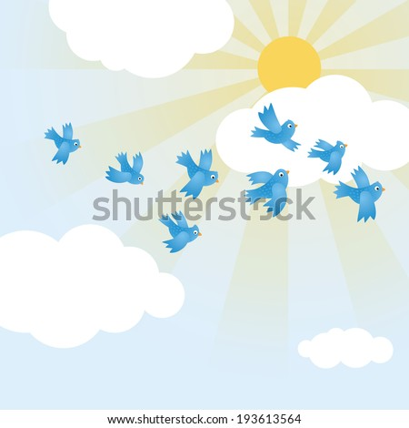 Vector sun icon. - stock vector