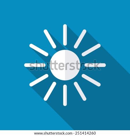 Vector sun icon - stock vector