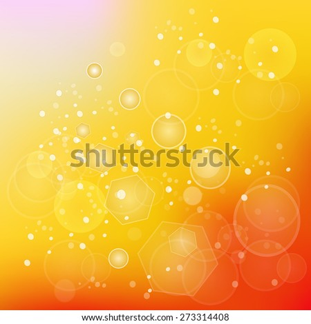 Vector Sun Natural Background. Sunny Abstract Summer Background.