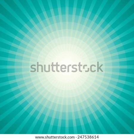 Vector Sun Sunburst Pattern - stock vector