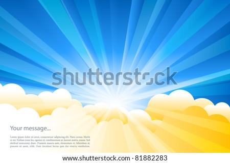 Vector sunburst - stock vector