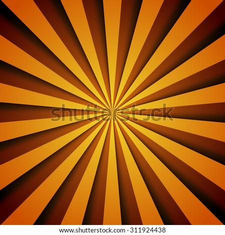 vector sunburst pattern. vintage retro round striped background - stock vector