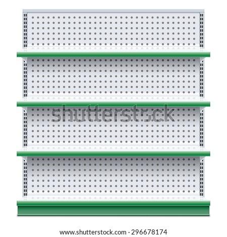 Vector Supermarket Rack - stock vector